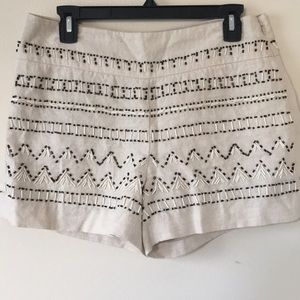 Beaded high rise shorts size 4